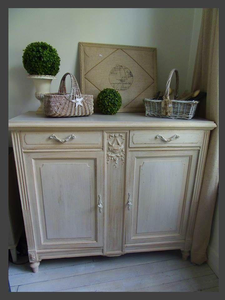 Buffet revisit par l 39 atelierdes4saisons restauration - Restauration meubles peints ...