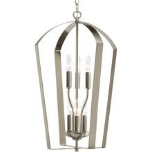 white foyer pendant lighting candle. View The Progress Lighting P3929 Gather Six-Light Candelabra Foyer Pendant With Flat Metal Cage White Candle I