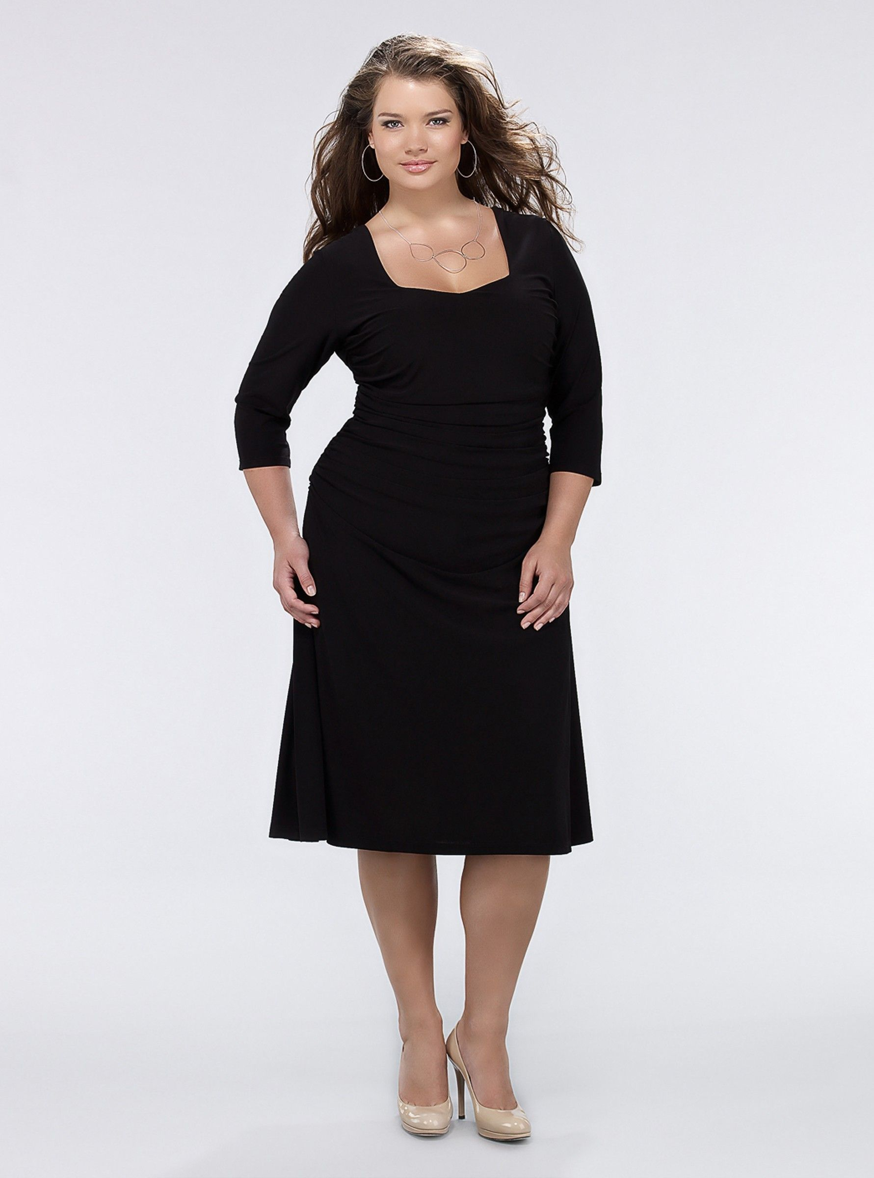 Kiyonna Flaunt Cocktail Dress Black, a Short Dress for Women ...