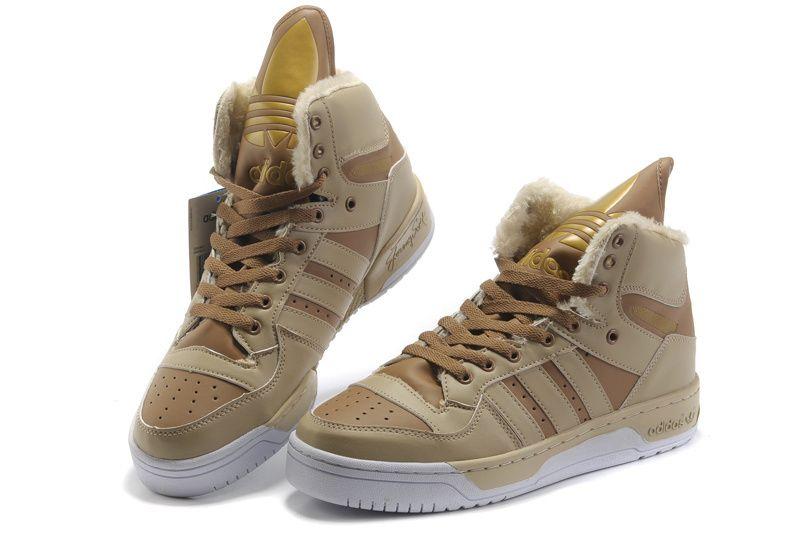 e70aa6117884 Adidas Jeremy Scott JS Wings Big Tongue Plush High Shoes