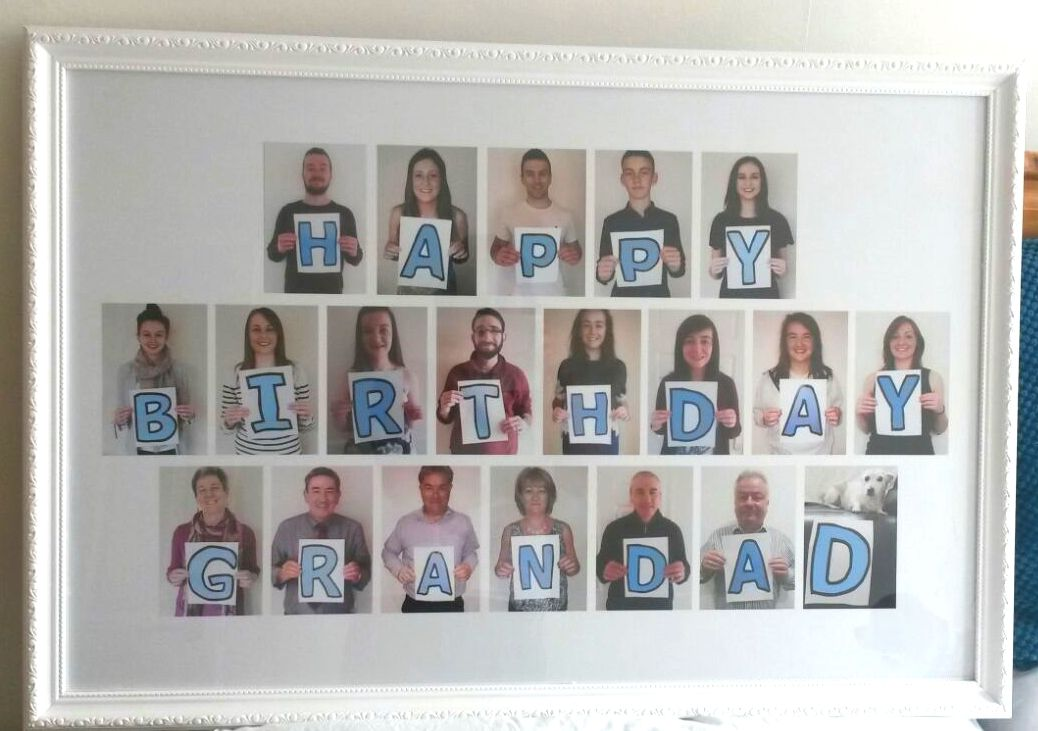 I made this as a photo gift of the family for granda's birthday #moms50thbirthday