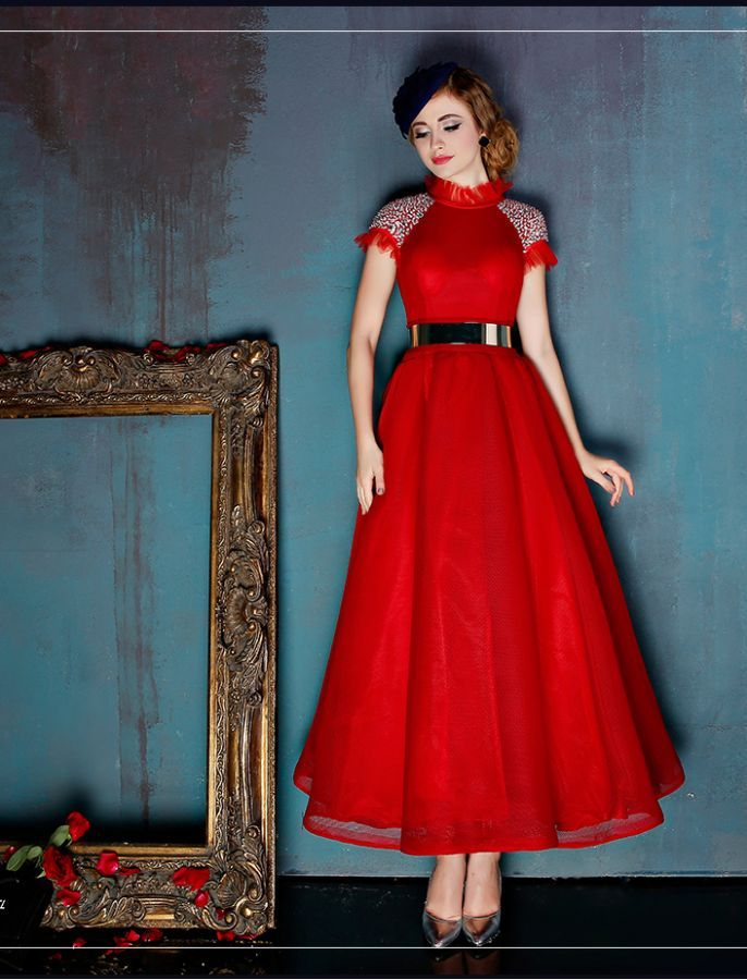 High Collar Vintage Inspired Prom Dress So Much Love Pinterest