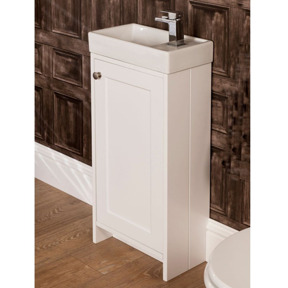 Drench Maisie Traditional Floorstanding Vanity Unit & Basin - Ivory | Tap Warehouse