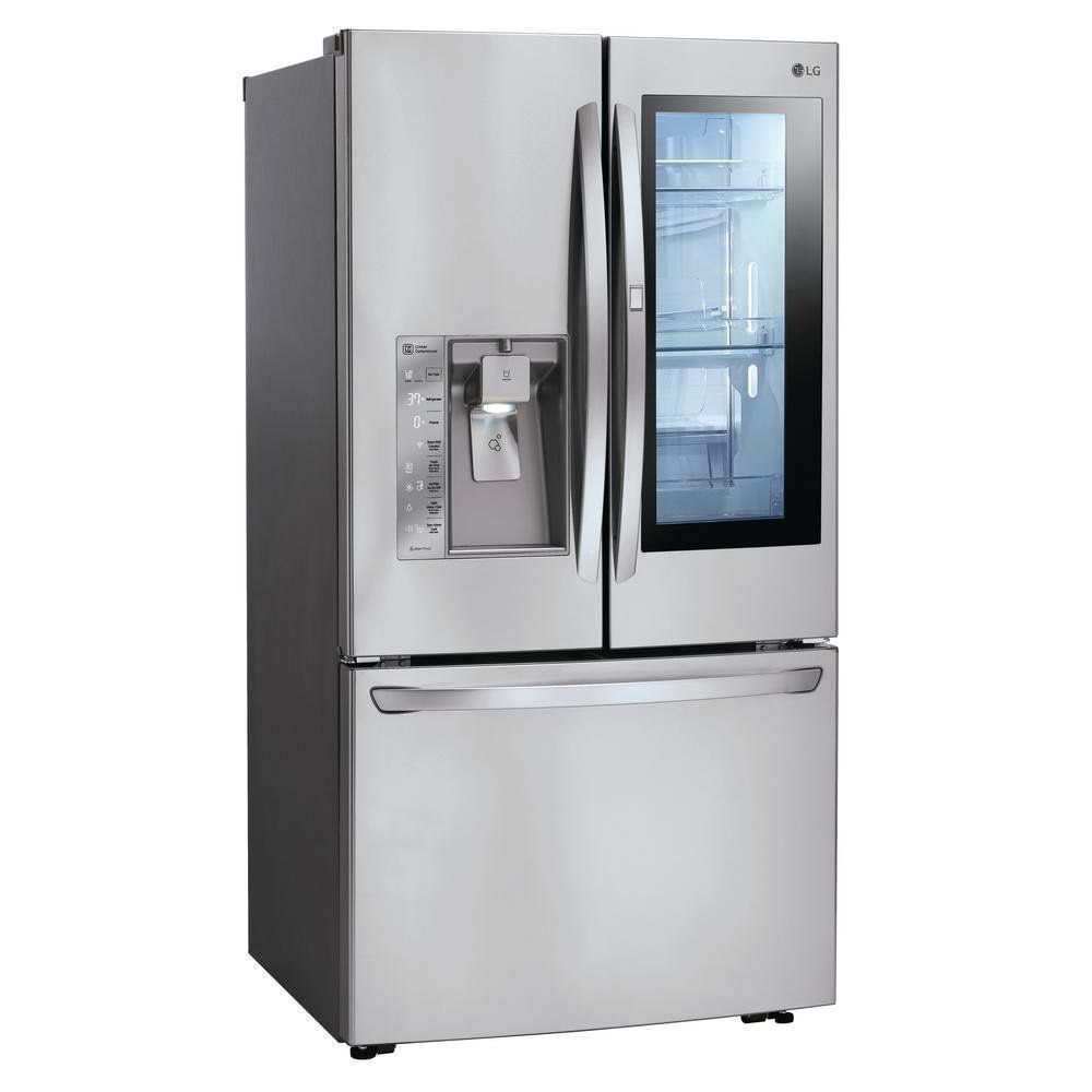 Lg Counter Depth French Door In Door Smart Refrigerator 23 5 Cu Ft 36 Inch Stainles In 2020 French Doors Stainless Steel French Door Refrigerator Old Refrigerator