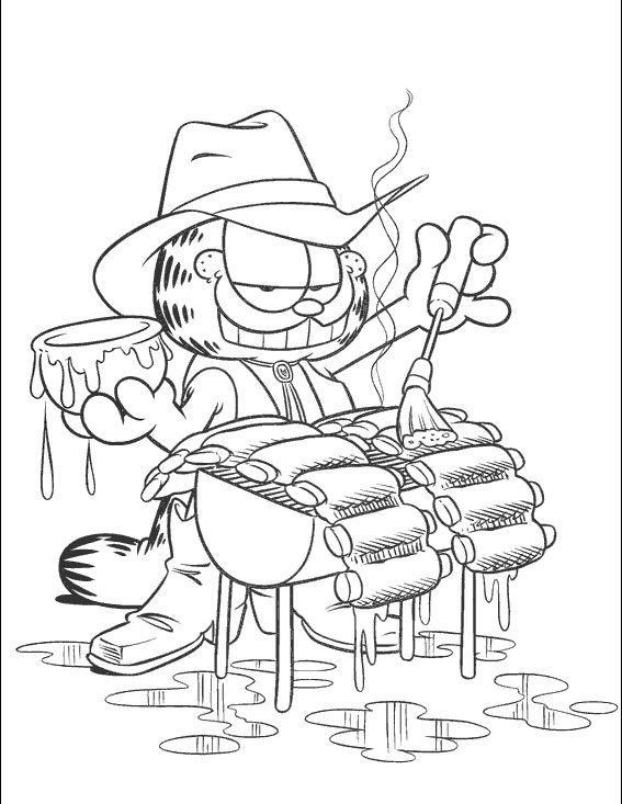 Garfield Paint Coloring Page | Cartoons | Pinterest | Kids colouring ...