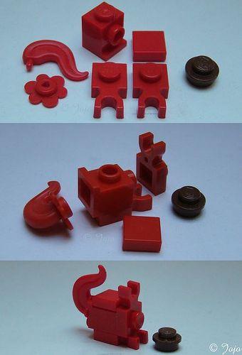 LEGO Lot of 4 Dark Blue 1x1x2//3 Mini Slope Pieces