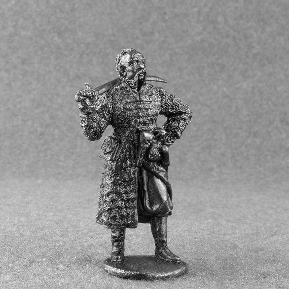 Miniature  Medieval 1//32 Ukrainian Cossack Tin Toy Soldiers 54mm Metal Figurine