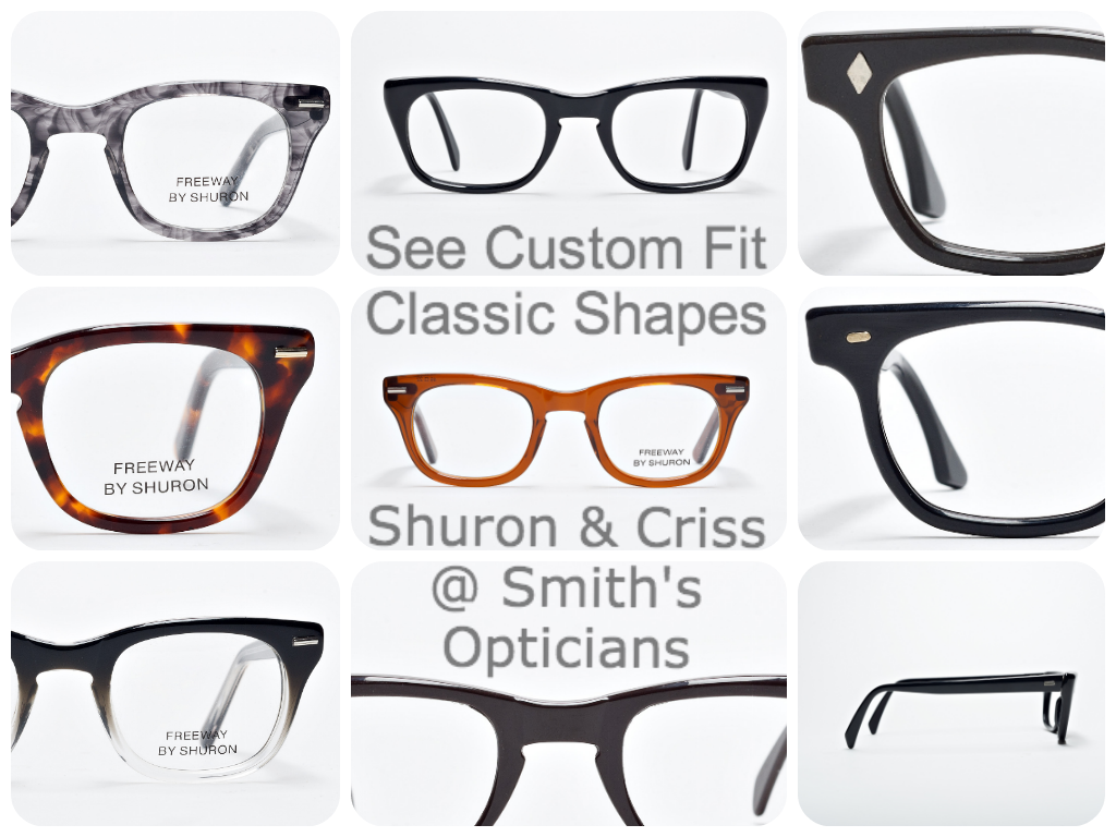 size to fit & classic shaped frames from Shuron & Criss #custom ...