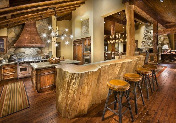 Big Beautiful Rustic We Love This Rustic Cabin Kitchen