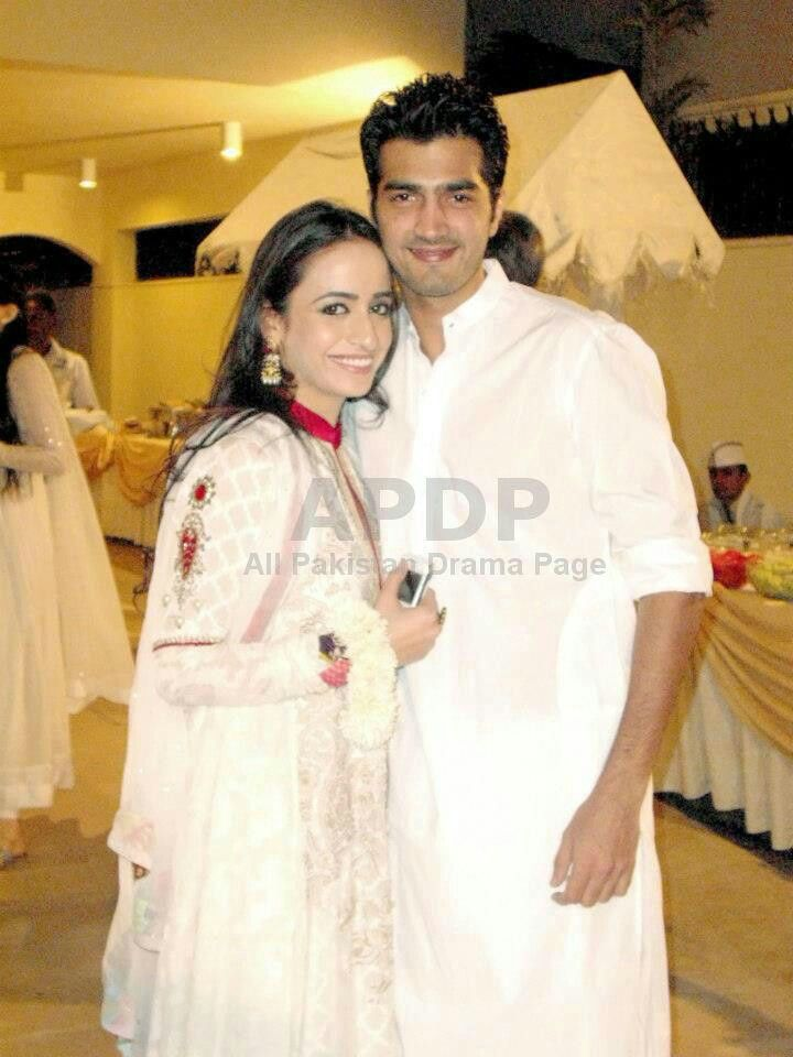 Shehzad Sheikh With His Wife Hina Mir