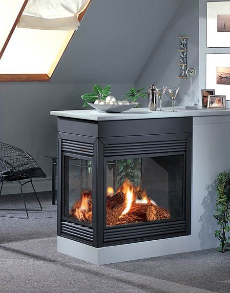 Pin By Jennifer Mcgee On For The Home Two Sided Fireplace