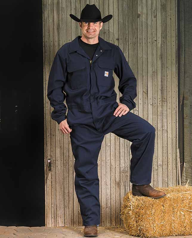 e55d99cf2009 Carhartt Men s Navy Blue Flame-Resistant Coveralls - Bibs   Coveralls -  Workwear for men Fire hazard welding working on engines NFPA 2112 Arc Rated  NFPA 70E ...