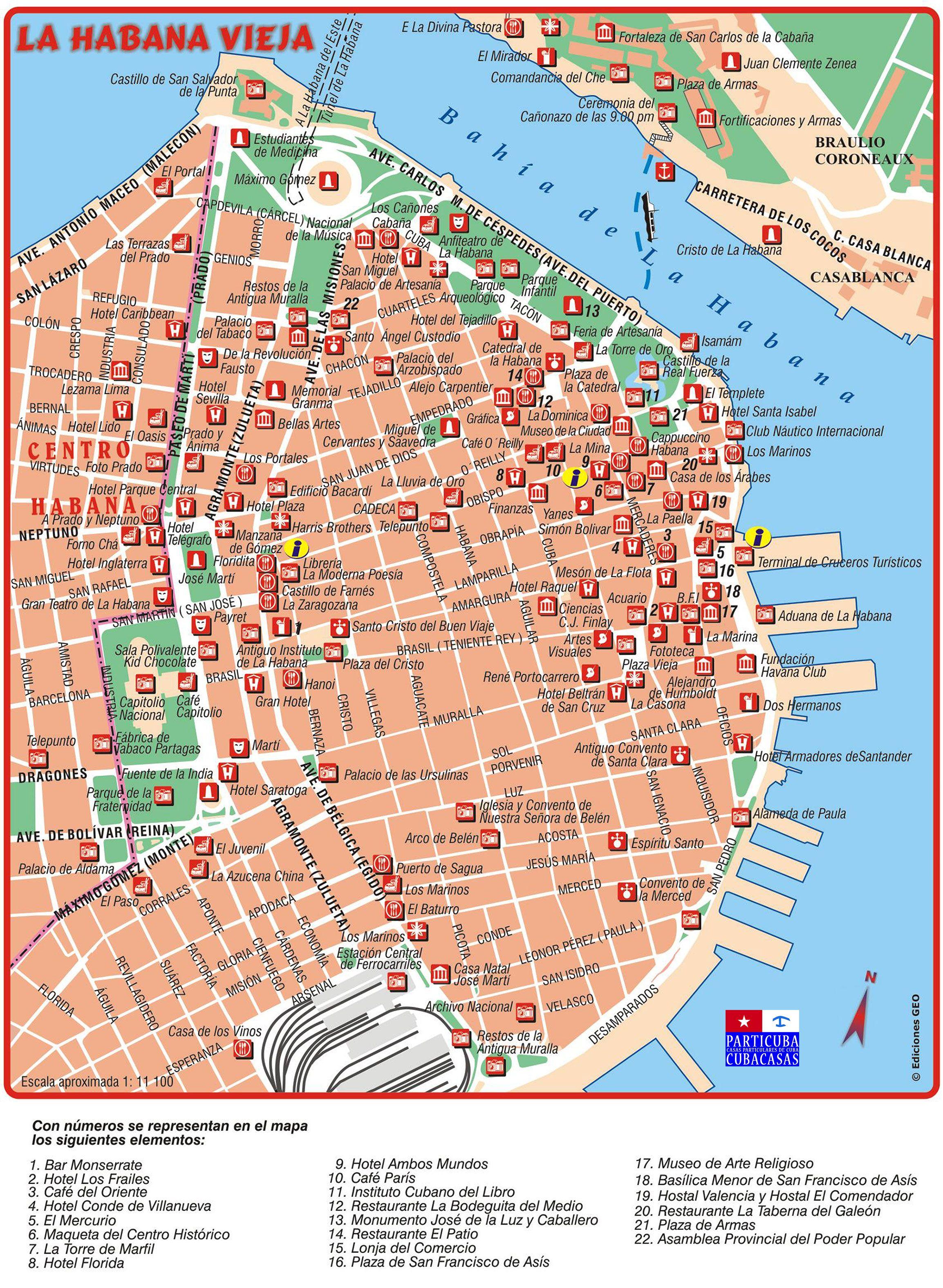 Havanna Kuba Karte.Habana Vieja Www Particuba Net Kuba Kuba Und Havanna