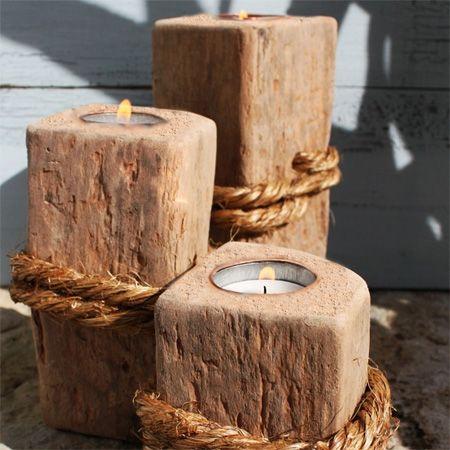 Make tealight candle holders crafts pinterest scrap for Wooden candlesticks for crafts