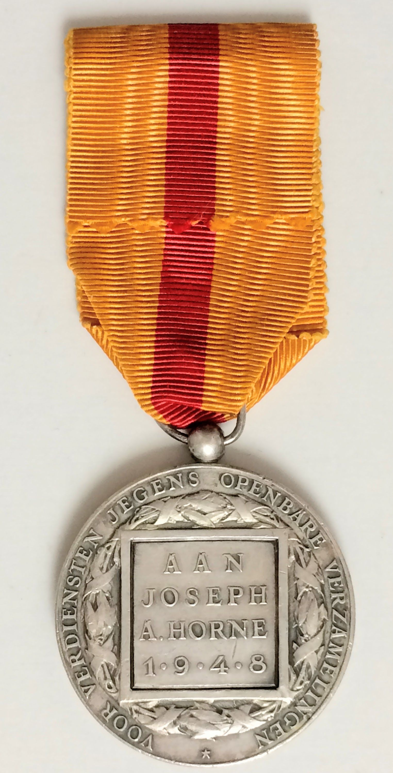 Repro WW1 Military Medal With Ribbon BAVARIAN Military SERVICE ORDER Silver