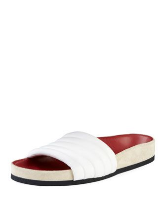 20f6885d8102 Hellea+Quilted+One-Band+Slide+Sandal+by+Isabel+Marant+at+Bergdorf+Goodman.