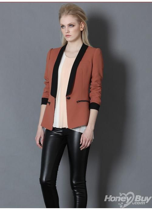 Shawl Lapel One Button Elegant Junior Women Suits Jacket | Fancy ...