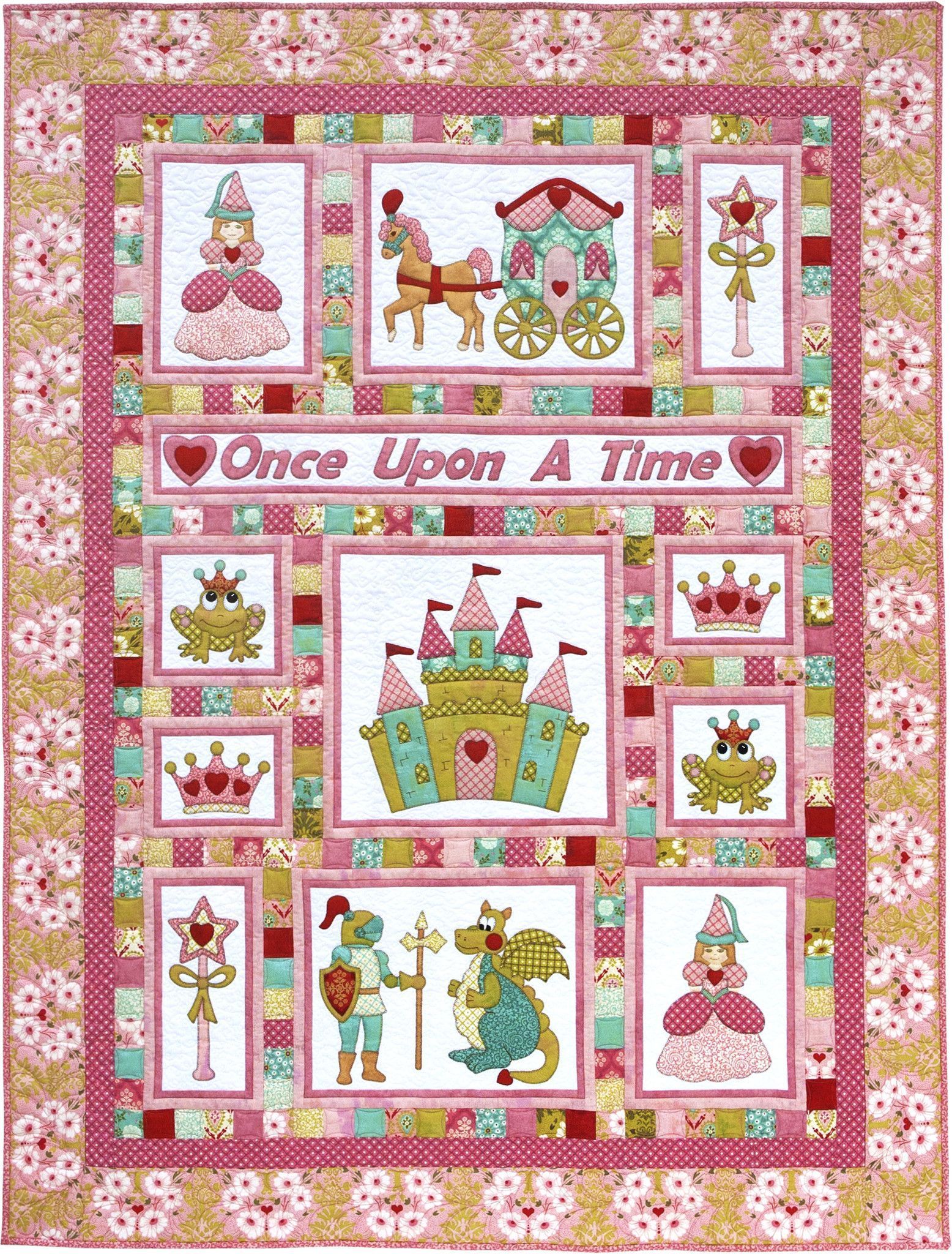 Kids Quilts Once Upon A Time Princess Fairy Tale Applique