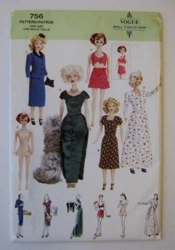 vogue barbie patterns - Google Search