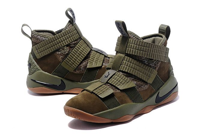 1c7613411c5 2017-2018 Newest And Cheapest Nike Zoom LeBron Soldier 11 SFG Medium Olive  Green