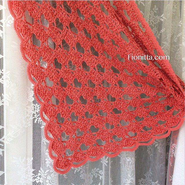 "Shawl "" Hello March with hearts"" By Fionitta | | Fionitta crochet ..."
