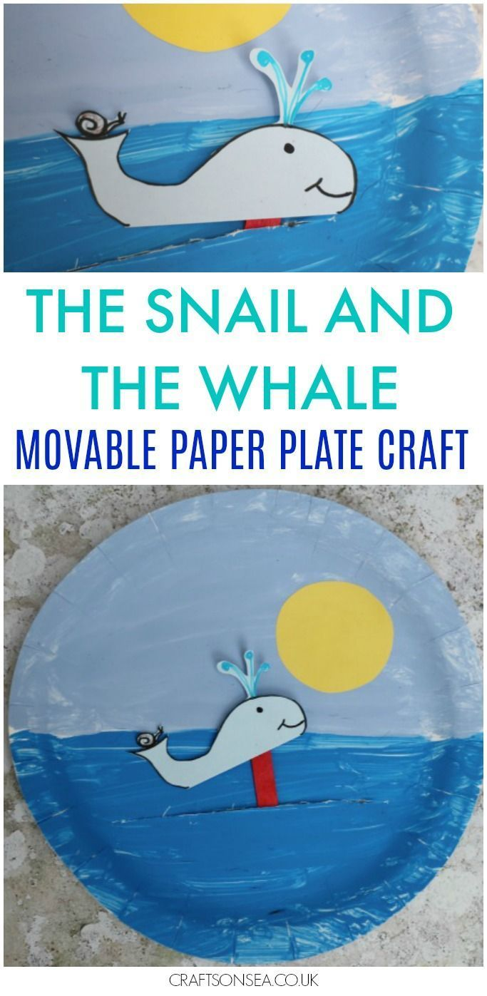 Need The Snail and the Whale crafts? This fun movable paper plate craft is perfect  sc 1 st  Pinterest & The Snail and the Whale Crafts: Movable Paper Plate | Whale crafts ...