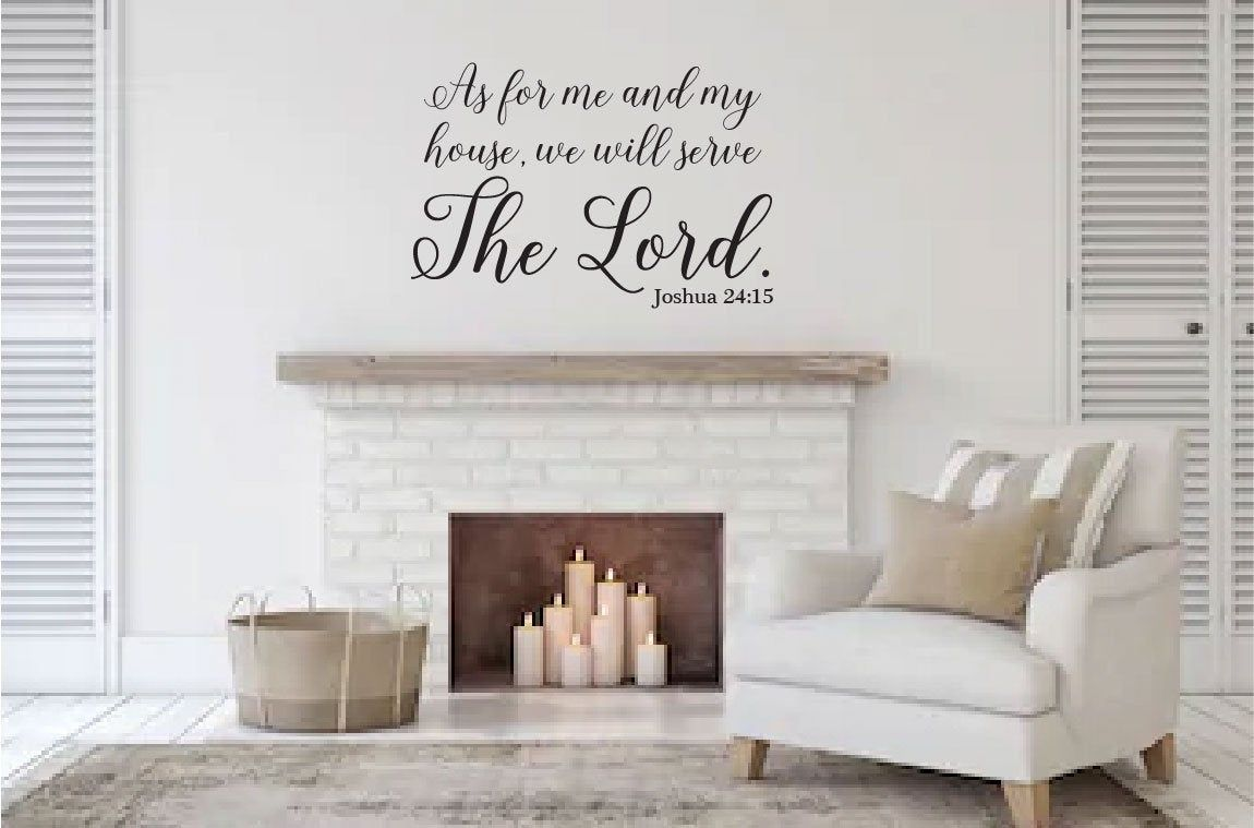 Joshua 24:15 Quote Wall Sticker Bible Verses Lord Decal Removable DIY Room ^P