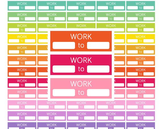 Work Stickers Printable Work Planner StickersWork Schedule planner ...