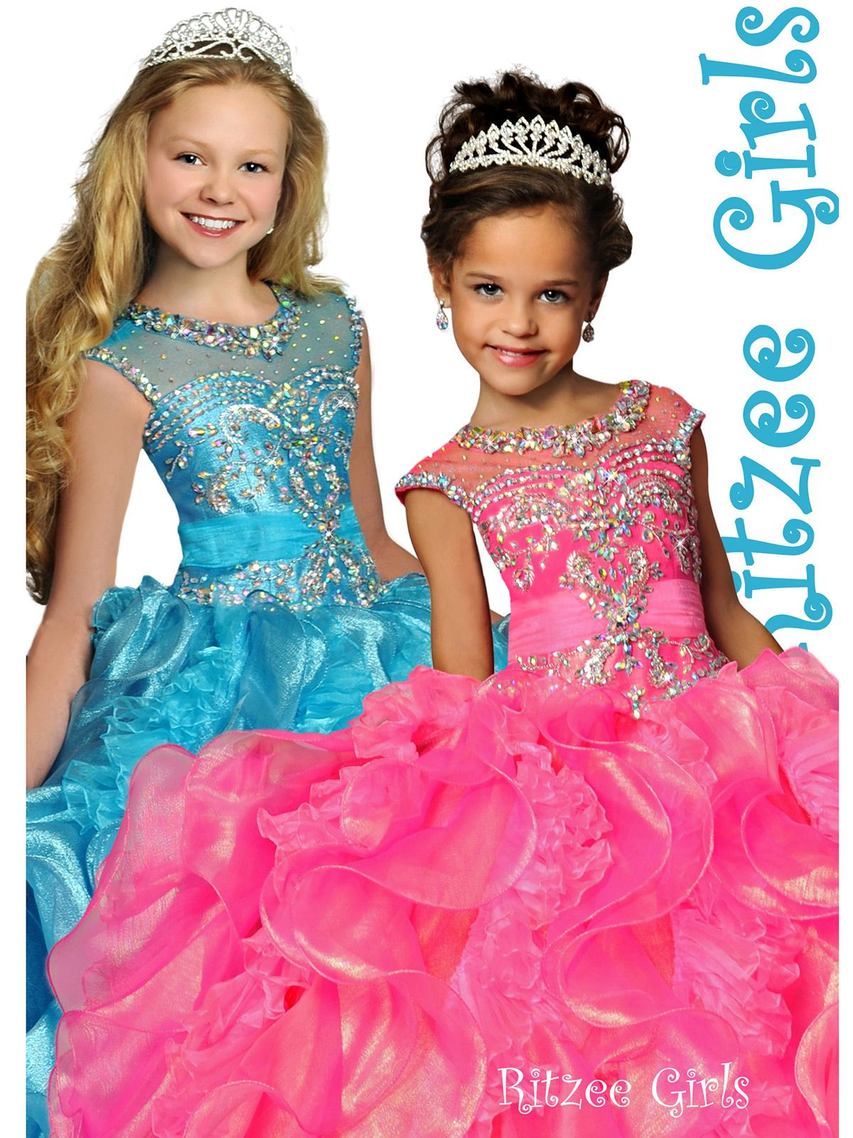 Adorable Ritzee Girls dress with a Sabrina neckline style. Sheer and  rhinestone embellishment.