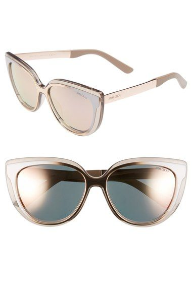 62fda0bebce0f Main Image - Jimmy Choo  Cindy  57mm Retro Sunglasses