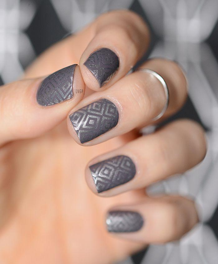 Gray And Black Nail Designs: Nail Art Octobre 2015