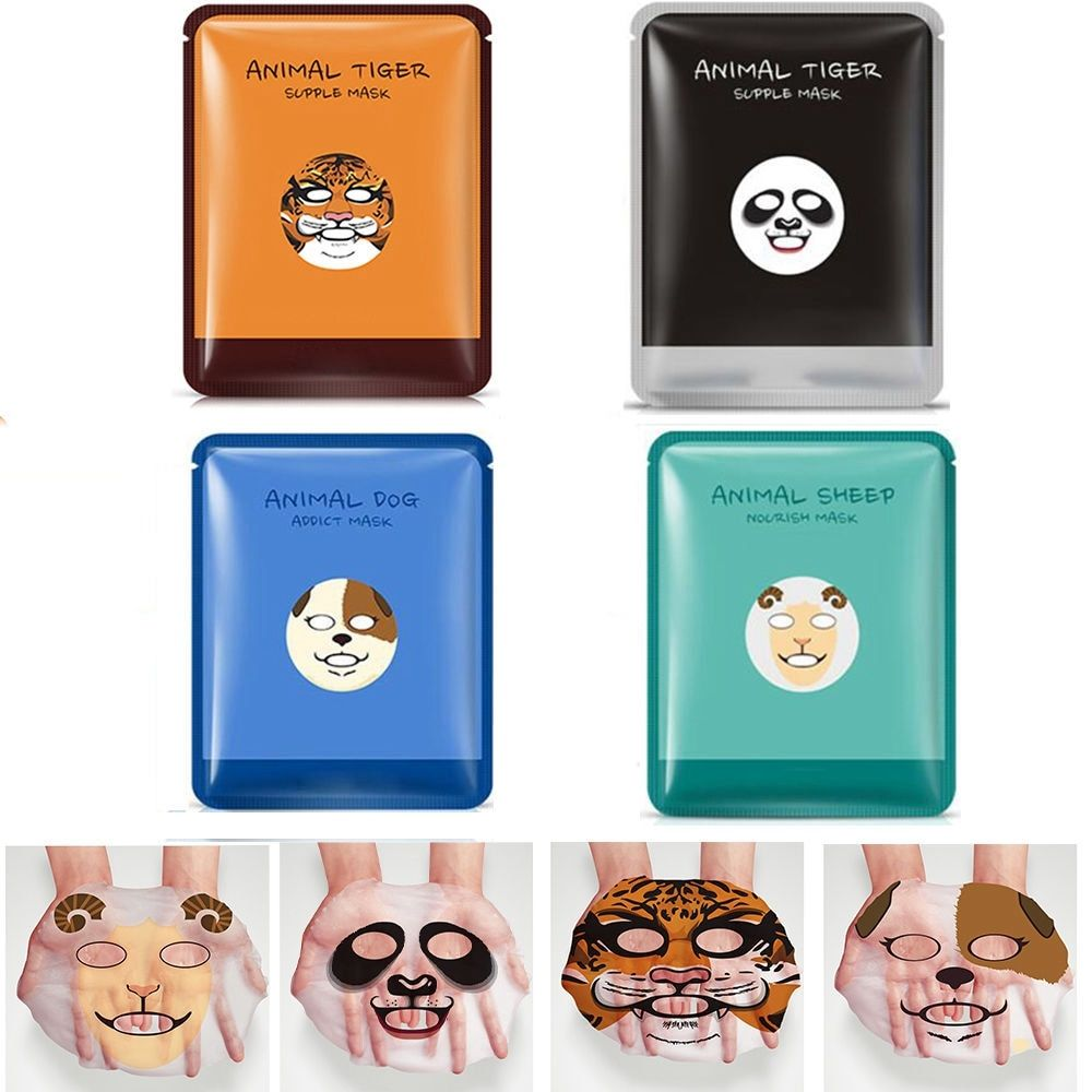 Face Cute Tiger/panda/puppy/sheep Facial Mask Whitening Moisturizing Oil Control Animal Face Masks Skin Care Skin Care