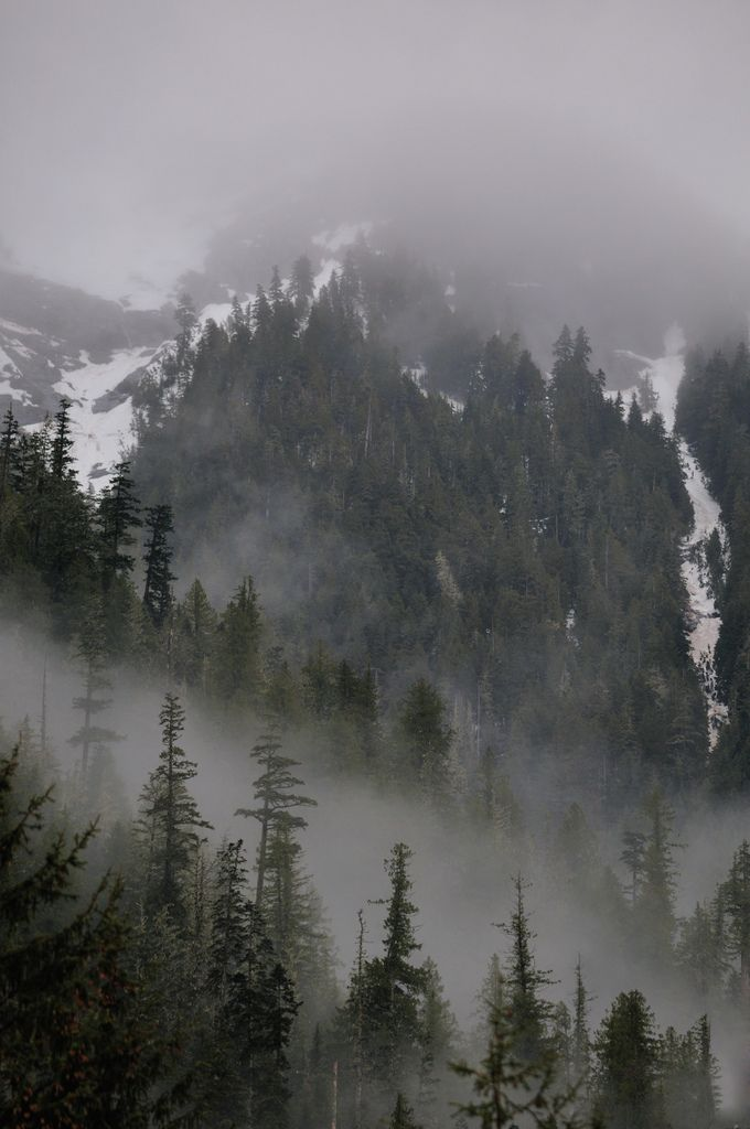 I like the mist in-between the mountains and also above them.