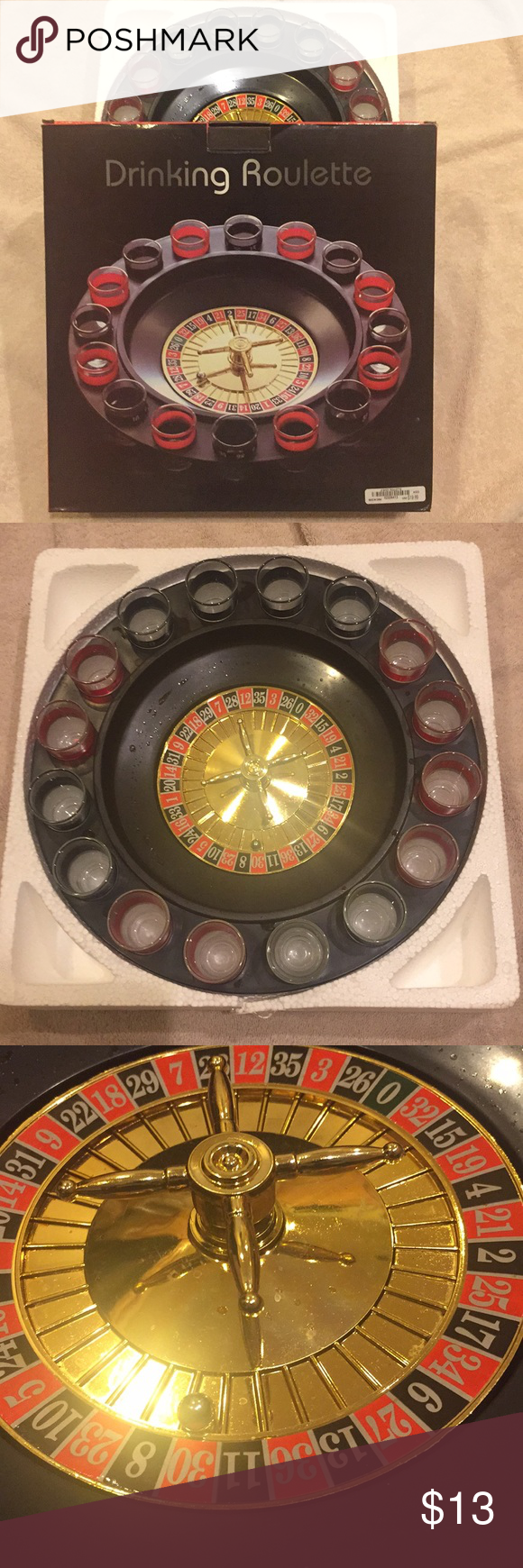 Drinking Roulette Roulette, Original box, Black and red