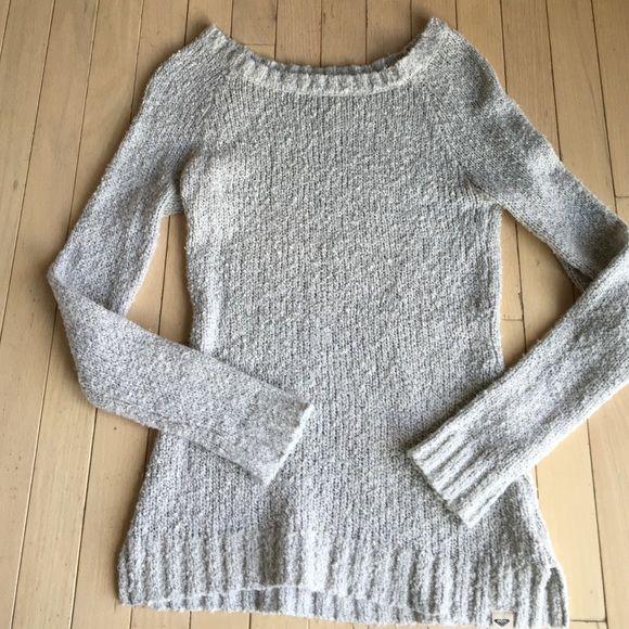 ROXY Soft and Roomy Boatneck Sweater ROXY Soft and Roomy Boatneck Sweater. Worn twice. Excellent Condition. Roxy Sweaters Crew & Scoop Necks