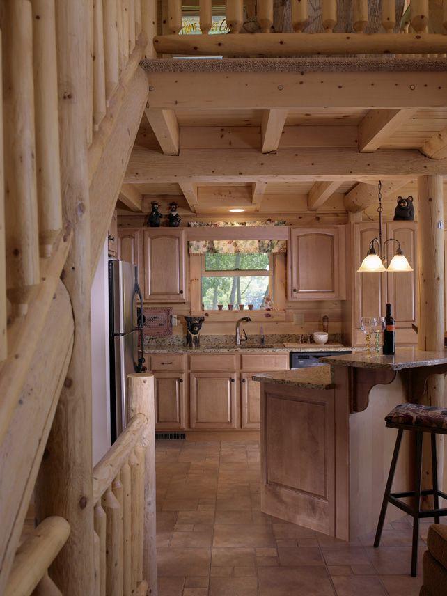 Küchenpläne showcase log homes kodiak 03203 kitchen
