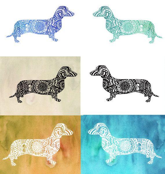 Zentangle dachshund clip art cut file dog lover gift silhouette zentangle dachshund clip art cut file dog lover gift by valrart negle Choice Image