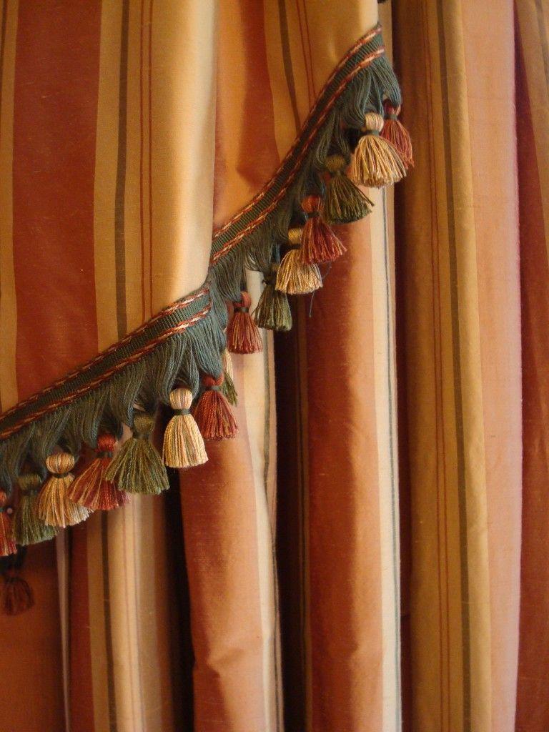 Dining Room Silk Curtains