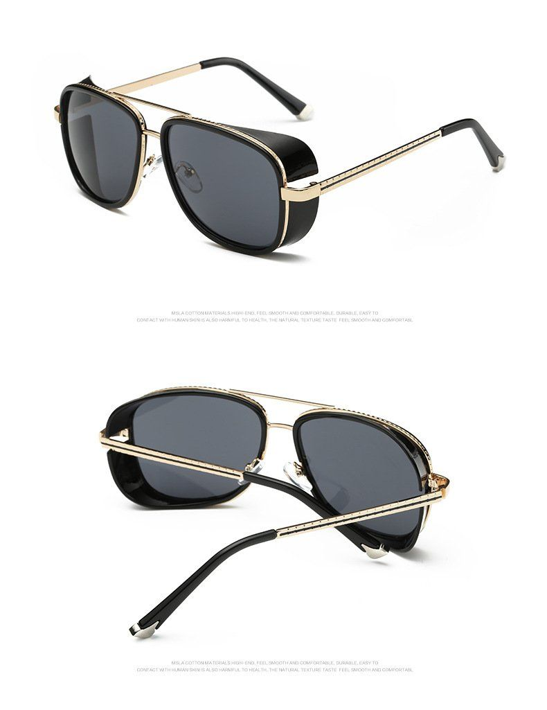 b18f35eaa8a0e Fashion Vintage Square Sunglasses Women Black Retro Famous Luxury Brand  Designer Sunglasses Men High Quality Driving Goggles