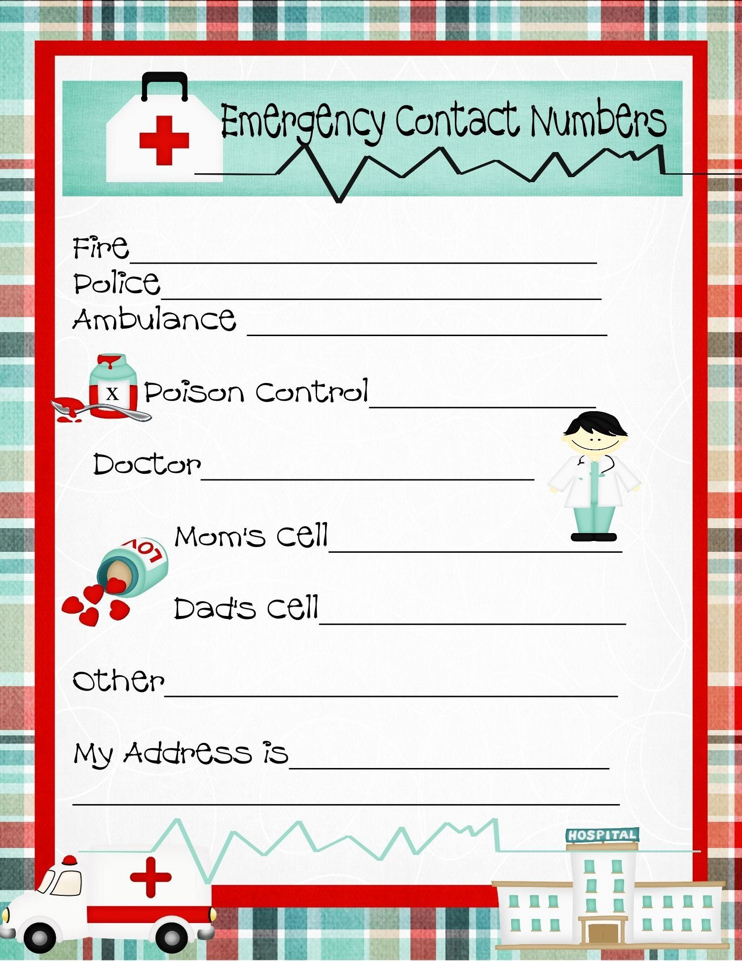 30 Printable Emergency Contact Form In