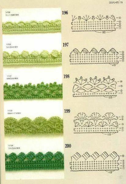 Puntillas crochet patron   crochet   Pinterest   Crochet patrones ...