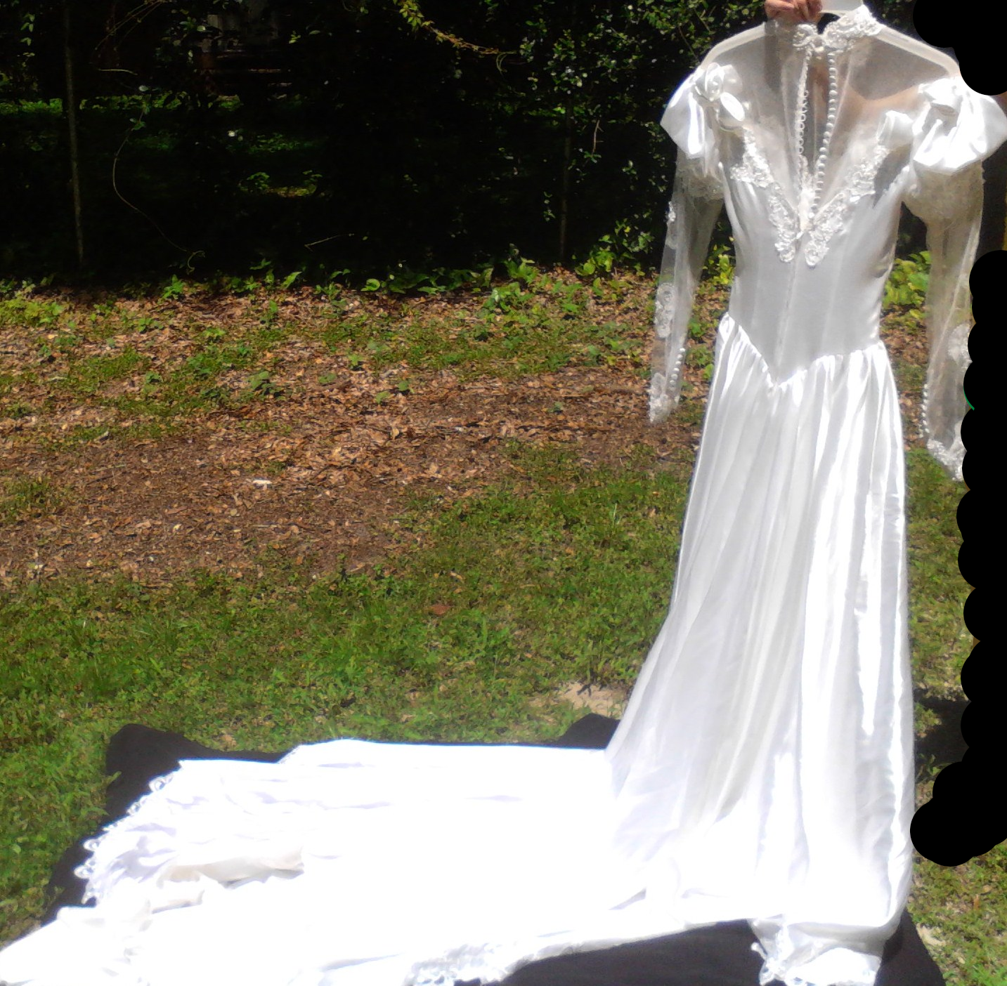 This is a one of a kind hand made wedding dress it is made with
