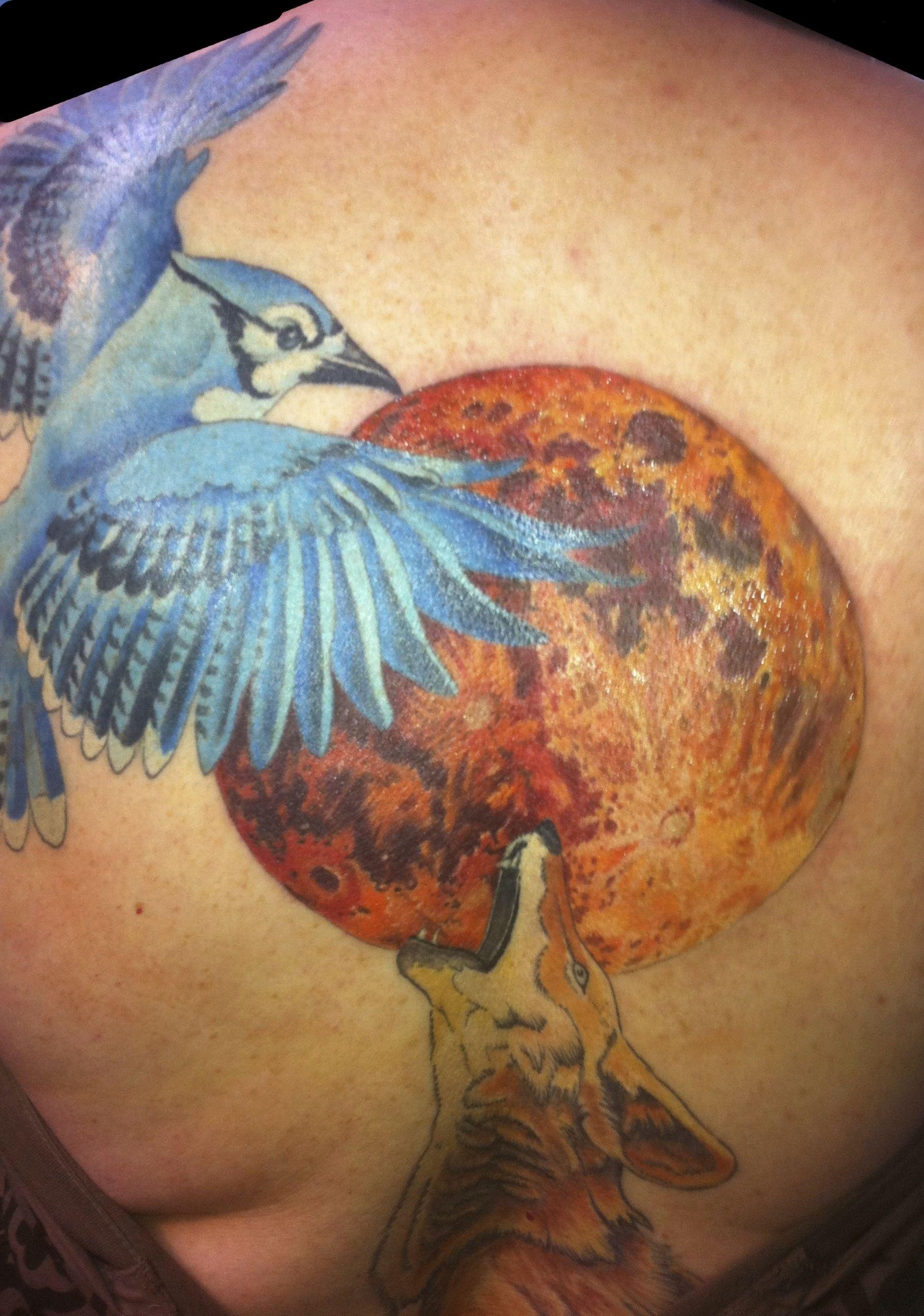 Austin Watercolor Tattoo: #tattoo #austin #texas #hubtattoo #michael-norris #moon