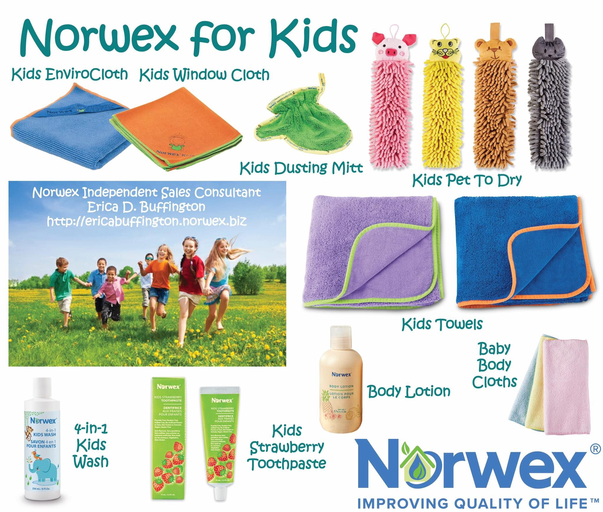 Norwex Cleaning Products: Norwex Has So Many Kid Friendly Items! Look How Cute The