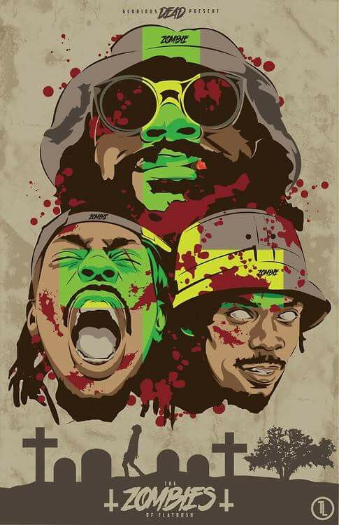 I Have Chosen This Image Because Am A Big Flatbush Zombie Fan And Love The Colours Used In Green Yellow Gives Psychedelic