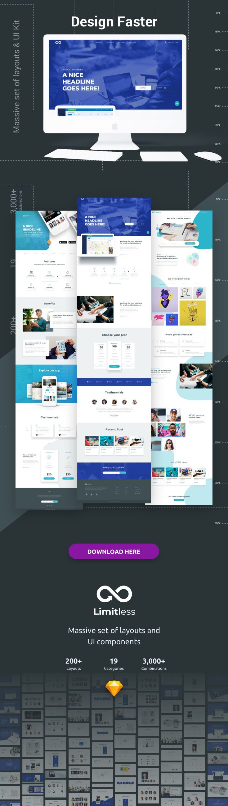 Limitless Web Design Projects Layout Web Template Design