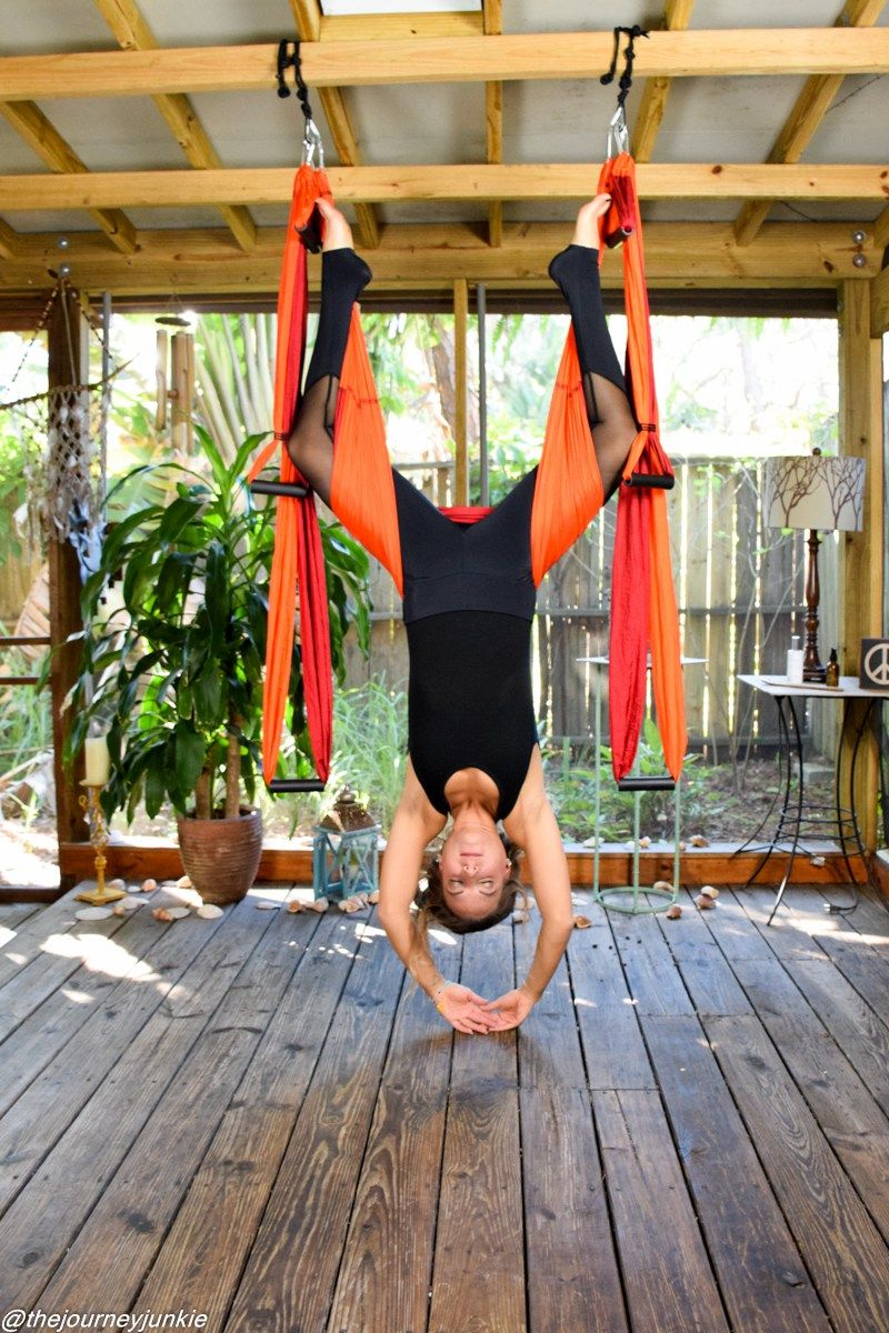 63d47608db The Yoga Trapeze - How & Why to Use One | Ex cerise | Yoga hammock ...