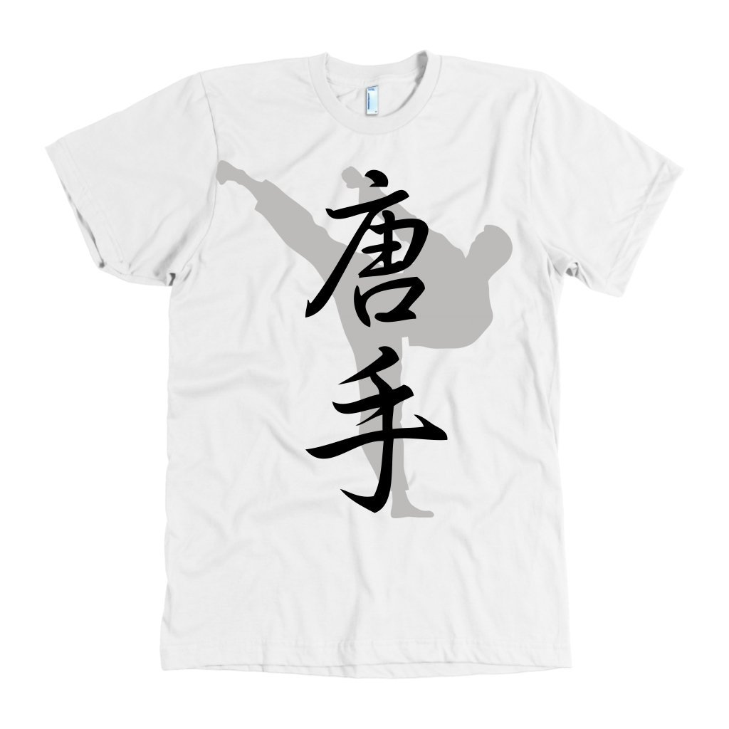 Martial Art T Shirt American Apparel Short Sleeve White With
