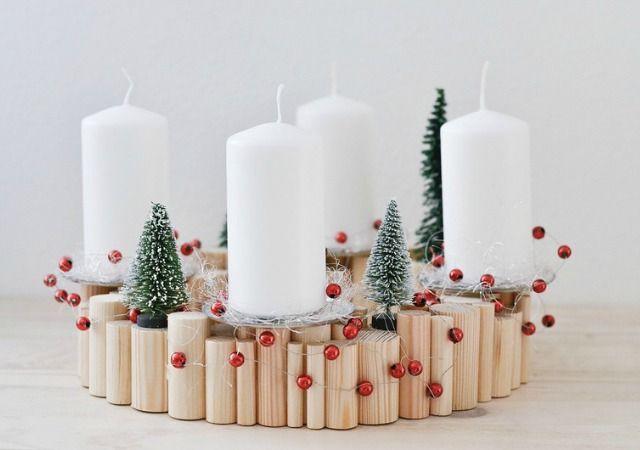 DIY Centro de mesa para Navidad estilo escandinavo DIY Pinterest - manualidades para navidad