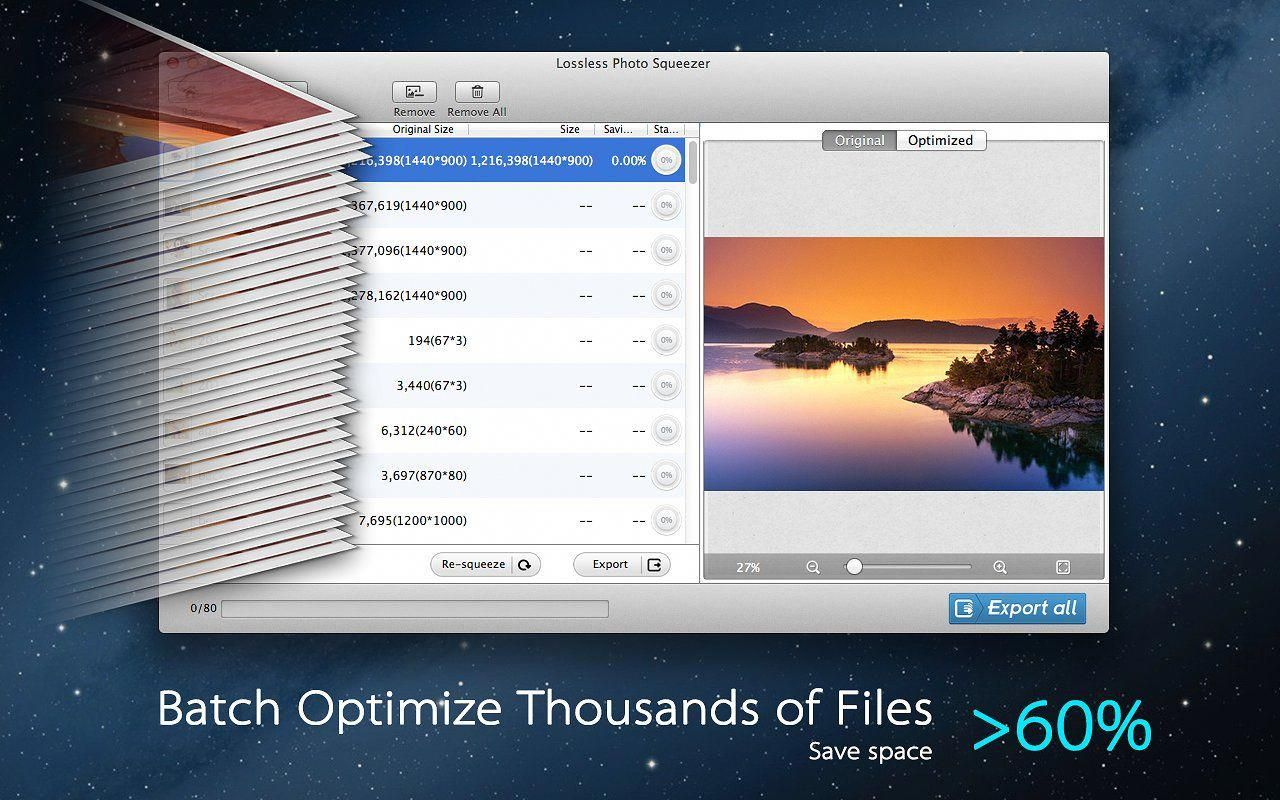 Photo Size Optimizer for Mac easilyclickquickly